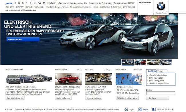Die BMW Startseite