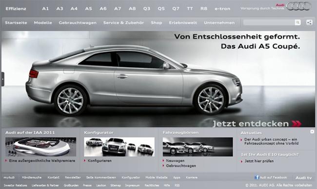 Audi Startseite