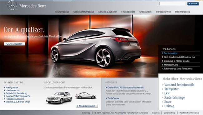 Die Mercedes Startseite