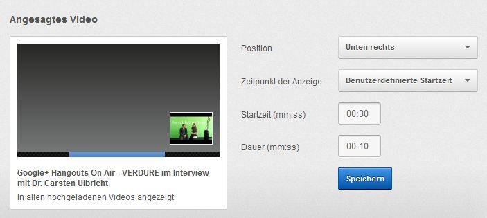 video - Youtube Video Bewerben