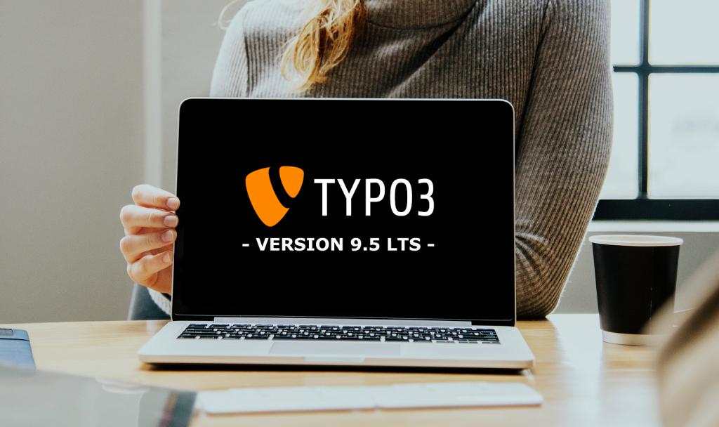 TYPO3 Version 9.5 Laptop Screen