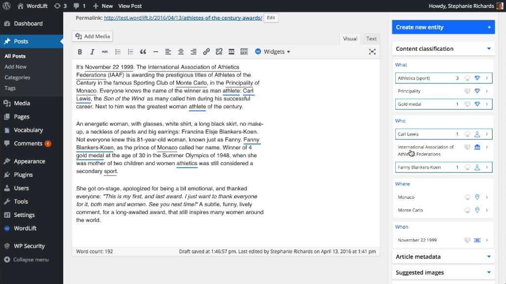 WordPress-Plugin Wordlift