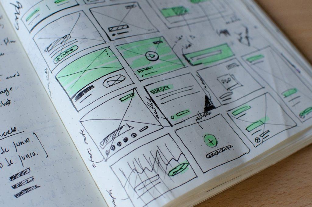 UX Design Wireframes Scribbles